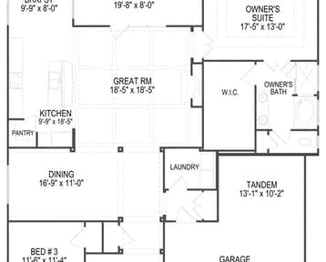Chadwick - 2d floor plan