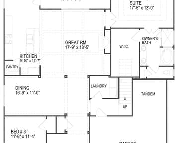444 NEEDLEGRASS LANE - 2d floor plan