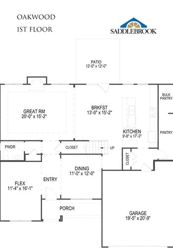 Oakwood- 2d Floor Plan 1