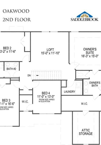 Oakwood- 2d Floor Plan 2