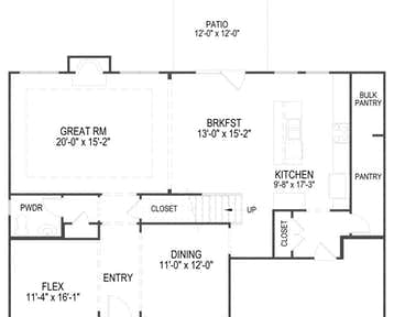 Oakwood - 2d floor plan