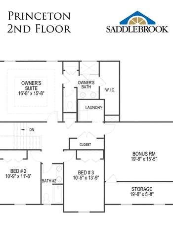 Princeton- 2d Floor Plan 2