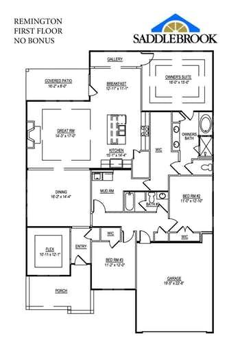 Remington- 2d Floor Plan 1