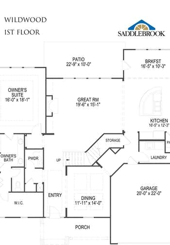 Wildwood- 2d Floor Plan 1