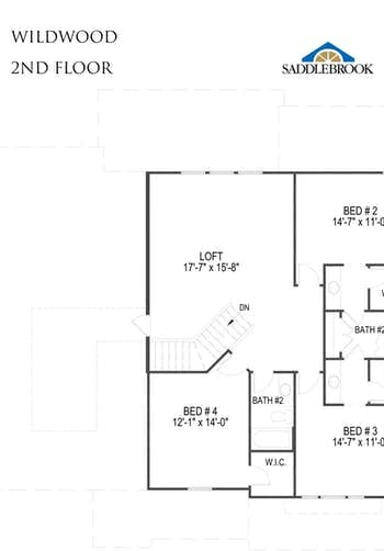 Wildwood- 2d Floor Plan 2