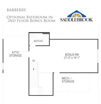 Barberry- Floor Plan Option 1