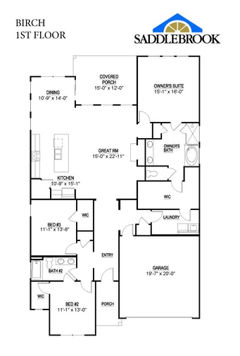 Birch- 2d Floor Plan 1
