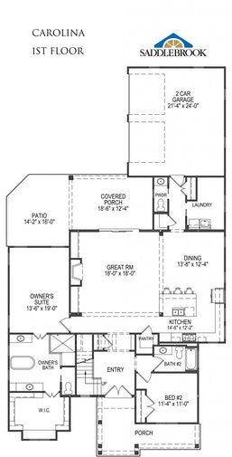 Carolina- 2d Floor Plan 1