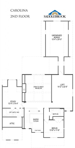 Carolina- 2d Floor Plan 2