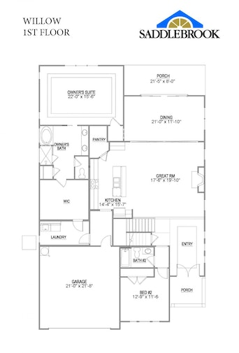 Willow- 2d Floor Plan 1