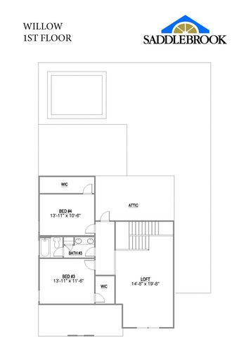 Willow- 2d Floor Plan 2