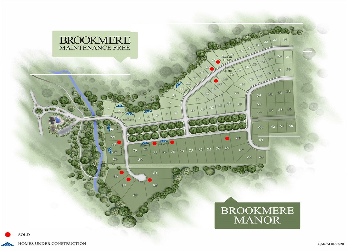 Brookmere Manor Plat Map